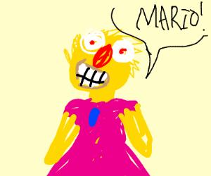 Yellmo dressed as Princess Peach