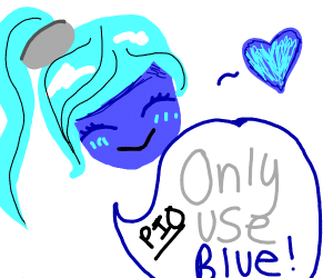 use blue only PIO