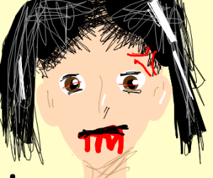 mad bloody mouth girl
