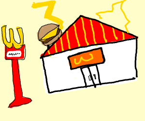 Burger Restaurant with Thunder