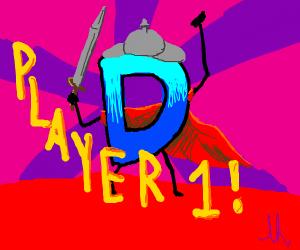 Drawception D in battle