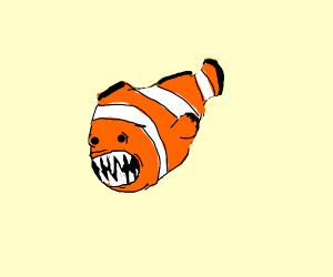 clownfish with teeth