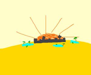 desert cityscape