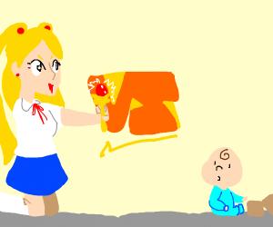 anime girl vs baby