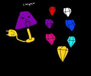 Thanos lamp will get the chaos emeralds