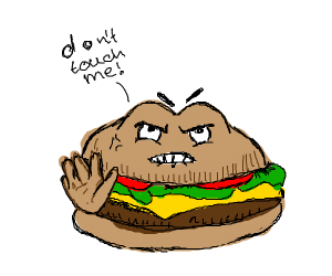 Cheeseburger doesn't want to be touched