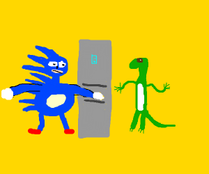 Sonic doing a cameo with geico