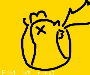 First we feast logo - Drawception