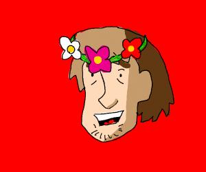 desu flower crown shaggy