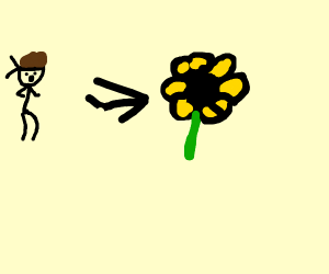 Solid Snake Morphs into a Flower