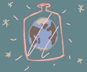 Earth in a bottle