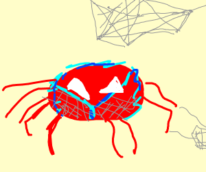 Spiderman as a spider