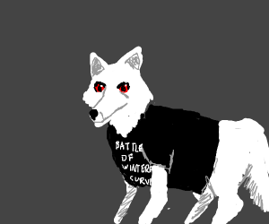ghost wearing a tshirt