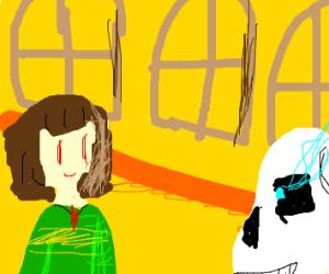 Deltarune) Evil Kris vs Gaster - Drawception