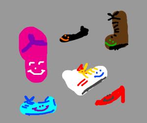 Happy footwear