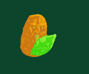 Sentient Potato licks Sentient Lime ♡