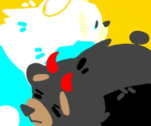 WhiteFluffy/BlackEvil Bear