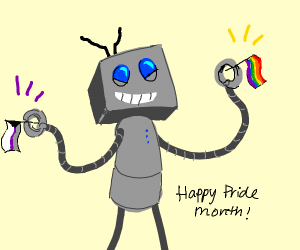 Robot is all for gay and demi pride