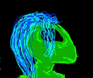 Blue-Haired Alien