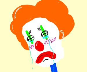 Winona Ryder as a Sad Clown