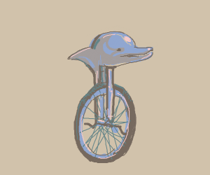 dolphin unicycle