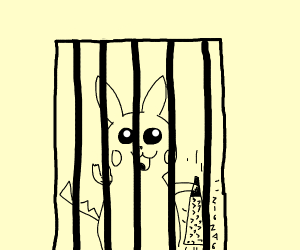 Pikachu escaping from jail