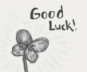 4 leaf clover wishing you goodluck