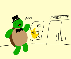 Dapper Turtle goin' to the Movies