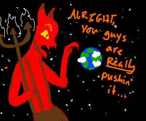 Devil gives warning to Earth