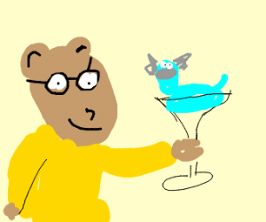 Reed drinks a Dratini Martini.