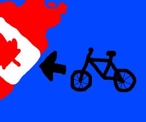 Bike goes to Canada