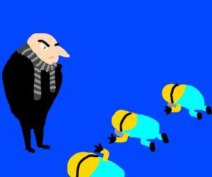 Minions bow down to tyrant Gru