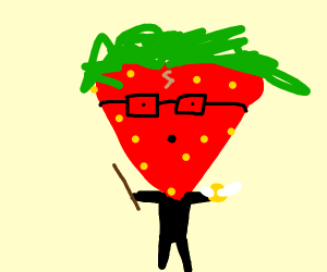 Strawberry is harry