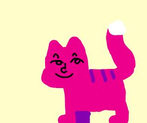 Smug purple cat