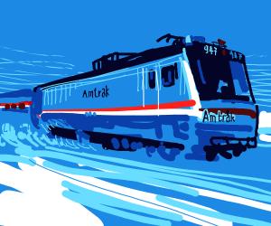 Amtrak Train approaching