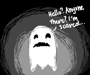 ghost is scared