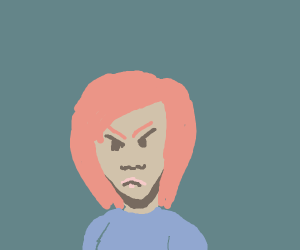 very angry redhead looking at your direction