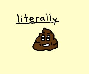 poop emoji, literally