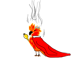 Majestic Fire Bird