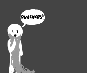 Man with ginormous beard asks about pancakes
