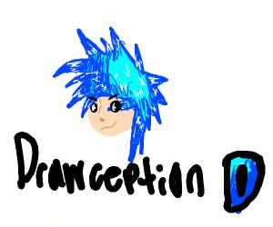 drawception logo as a human