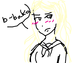 blonde anime chick
