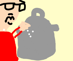 Salt in a trash can