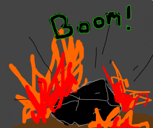 Bedrock or Coal ore combusting