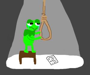 Kermit is depressed
