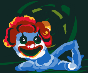 melting clown