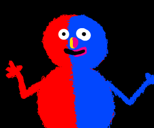 Elmo Is Turning Into Grover!