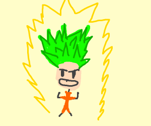 White Haired Goku goes Green Super Saiyan