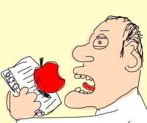 Eating an Apple with a Notebook
