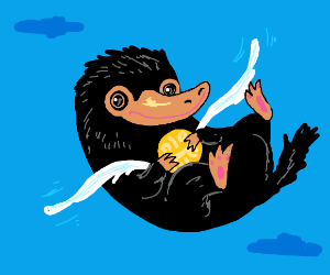 Niffler with the Golden Snitch